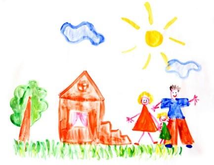 Облако нарисованное ребенком